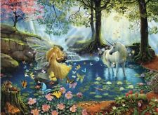 Jigsaw puzzle Fantasy Mystical Meeting Fairy Unicorn Sylvan Glade 300 piece NEW