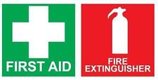 20 FIRST AID & FIRE EXTINGUISHER Stickers 100mm Decal Set Public Safety OHS WHS