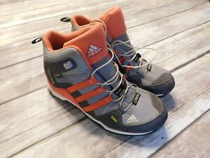 Kids Adidas Terrex Gore-Tex Boots Size 3 Grey and Coral