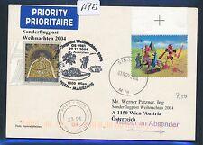 65873) AUA SF Weihnachten Wien - Mauritius 22.12.2004, Karte ab Singapore R!