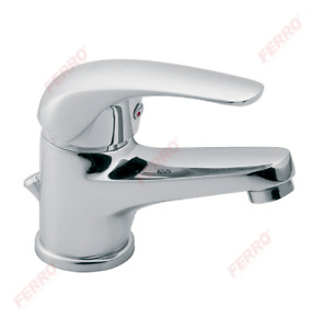 FERRO VASTO BATHROOM BASIN SINK MIXER TAP WASTE INCL. SINGLE LEVER CHROME