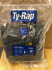 "TY24MX     Thomas & Betts Ty-Rap   5.5"" 40lb UV Black 1,000/bag  MS3367-5-0"
