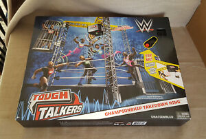 Tough Talkers 2017 WWE Wrestling Championship Takedown Ring playset MIB Mattel