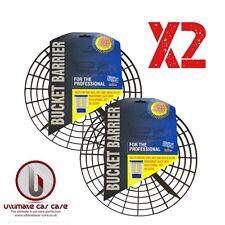 2 X BUCKET BARRIER / GRIT GUARD / SCRATCH SHIELD / NO SWIRL 2 WASH BUCKET SYSTEM