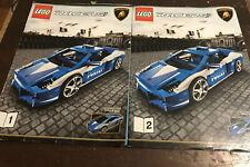 LEGO Racers 8214 Lamborghini Polizia Instruction Manual ONLY Books 1 and 2