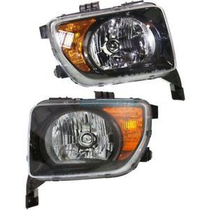 NEW LEFT & RIGHT HEAD LAMP FITS 2007-2008 HONDA ELEMENT HO2518114 HO2519114
