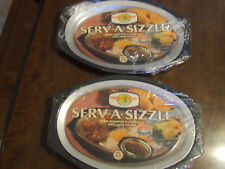 Vtg Nordic Ware Sizzler Server Steak Plates Serv A Sizzle Hot Cold Food 24010