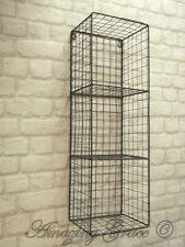 Vintage Industrial Style Metal Wall Shelf Unit Rack Storage Cupboard Cabinet NEW
