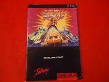 Rock N' Roll Racing Super Nintendo SNES Instruction Manual Booklet ONLY #D1