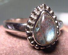 Sterling silver everyday labradorite ring uk m 1/2/6.5 us