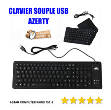 CLAVIER PLIABLE SOUPLE FLEXIBLE USB AZERTY ETANCHE POUR TRANSPORTS
