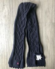 Girls Ralph Lauren Childrens Navy Blue Cable Knit  Neck Scarf Size 2T-4T