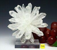Clear Quartz Crystal Cluster Sputnik Points  -  Raw Mineral Healing 234g