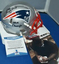 SONY MICHEL AUTOGRAPHED SPEED MINI HELMET NEW ENGLAND PATRIOTS SB 53 CHAMPS JSA