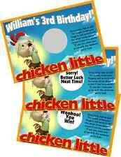 CHICKEN LITTLE SCRATCH OFF OFFS PARTY GAMES CARDS BIRTHDAY GAME FAVORS