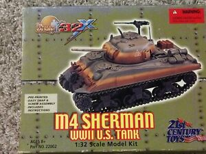 1/32 scale 21st century toys opened but contents sealedM4 Sherman tank  diecast
