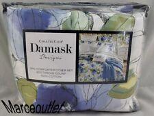 Charter Club Damask Designs Sketched Floral King Duvet Cover & Shams Set Blue