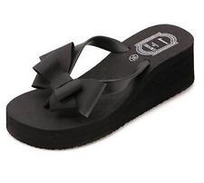 Fashion Women Beach Wedge Flip Flops Women Slipper Shoes Summer Bownot Sandals