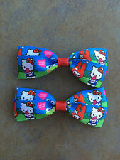 Hello Kitty Hair Bows with Alligator Clips