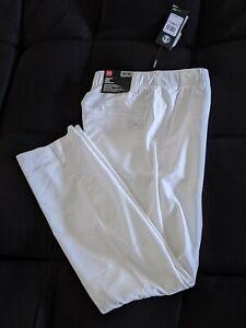 Under Armour Men Showdown Pants 1309545 100 Straight White Size 32/30