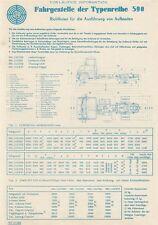 STEYR 590 Aufbauten Technik Daten Prospekt Sheet 1969 ++++++++++++++++++++++++++