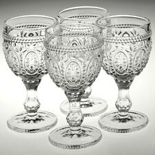 Set Of 4 Fleur Clear 200ml Wine Champagne Glasses Decorated Drinks Wedding Cups