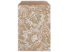 """25 Lace Kraft Paper Merchandise Bags 4.75x6.75"""" Easter Candy Cookies Gifts Favor"""