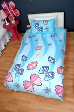 Lipstick Butterfly Bow Blue Pink QUEEN Size Quilt Doona Cover Set