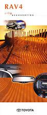 2004 Toyota Rav4 Accessories Original Dealer Sales Brochure