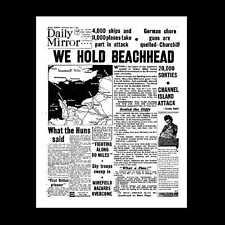 Dollshouse Miniature Newspaper - The Daily Mirror D-Day 1944