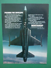 5/1985 PUB NORTHROP F-20 TIGERSHARK USAF TACTICAL FIGHTER GE F404 ENGINE AD