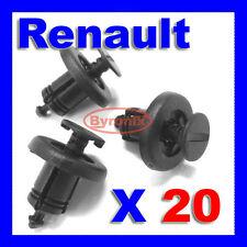 RENAULT BUMPER FASTENER TRIM CLIPS Clio Laguna Megane Espace PLASTIC Push X 20