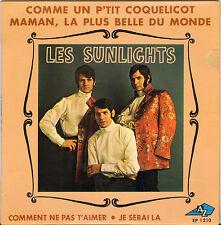 """LES SUNLIGHTS """"COMME UN P'TIT COQUELICOT"""" 60'S EP"""