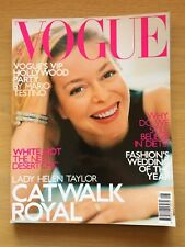 UK VOGUE MAGAZINE AUGUST 2000 WITH COVER STAR LADY HELEN TAYLOR BY MARIO TESINO