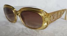 Vintage 2006 Christian Dior Optyl (readding)Sunglasses -Gold , Quilted Design