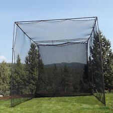 "10' X 10' X 10' Golf Cage Net + Golf Netting Impact Panel + 1"" Steel Frame NEW!"