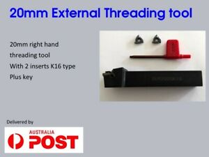 20mm Carbide Tip External Threading Lathe Tool With 2 Inserts SER2020K16