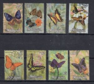 Malaysia 1970 Butterflies fine used set SG64-71