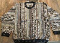 COOGI Australia - 100% Mercerised Cotton Crew Neck Multi-Color Sweater Size L