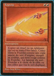 Fork (BB) Revised (FRENCH) HEAVILY PLD Red Rare MAGIC CARD (ID# 185279) ABUGames