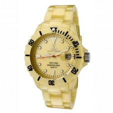 ToyWatch Women's Plasteramic Pearlized Yellow Gold Colour Quartz Watch FLP02GD