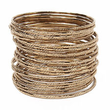 Amrita Singh Krystal Rose Gold Tone 24 Bangle Bracelet Set KB 267 NWT