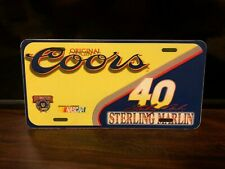 Custom Made Sterling Marlin Coors #40 Plastic License Plate New