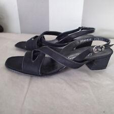 Salvatore Ferragamo Boutique Sandals 6.5 B Slingback Open Toe Black SHOES VC