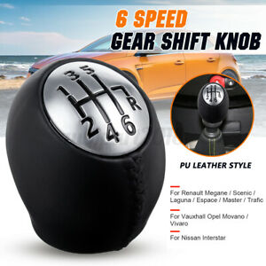 6 Speed Gear Shift Knob Shifter For Renault Megane Trafic Laguna for Vauxhall