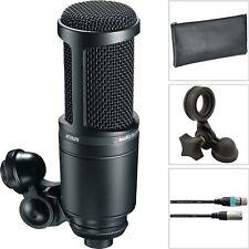 Audio Technica AT 2020 Studio Kondensator Mikrofon + Kabel Etui Stativadapter