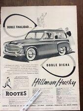 Publicidad automovil Hillman Minx Rootes
