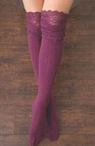 SIMPLY NOELLE Tall Length LACE  Boot Socks Choose Your Favorite!-New!
