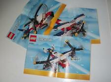 Lego Instructions (NO PARTS) - 3 in 1 Twinblade Adventures - 31020 - NEW