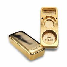 """Degussa """"Gold Bar"""" Bottle Opener & Closer (24 carat Gold Plated)"""